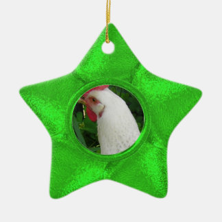 Green Star photo ornament