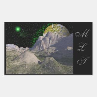 Green Star Space Scene Stickers