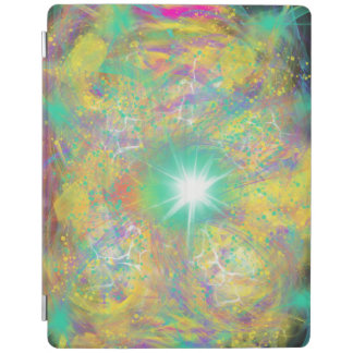 Green Star Yellow Abstract Art Painting Design iPad Cover
