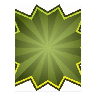 Green Starburst Icon Postcard