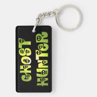 Green Starburst Skulls Ghost Hunter key chain