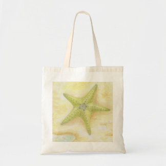 Green Starfish Tote bag