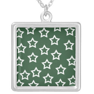 Green Stars Necklace