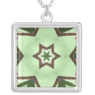 Green stars on green background jewelry