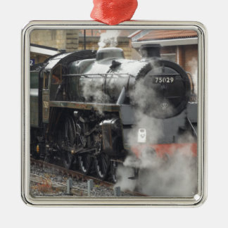 Green Steam locomotive Christmas Ornament