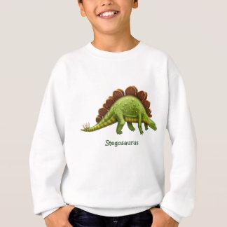 Green Stegosaurus Dinosaur Kids Sweatshirt