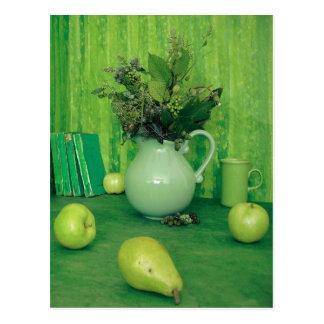 Green Still Life Recipe Card Post Card