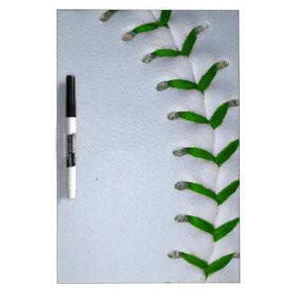 Green Stitches Baseball / Softball Dry Erase Board