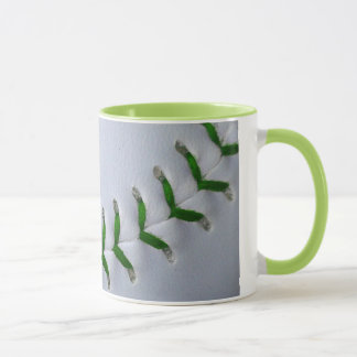 Green Stitches Baseball / Softball Mug