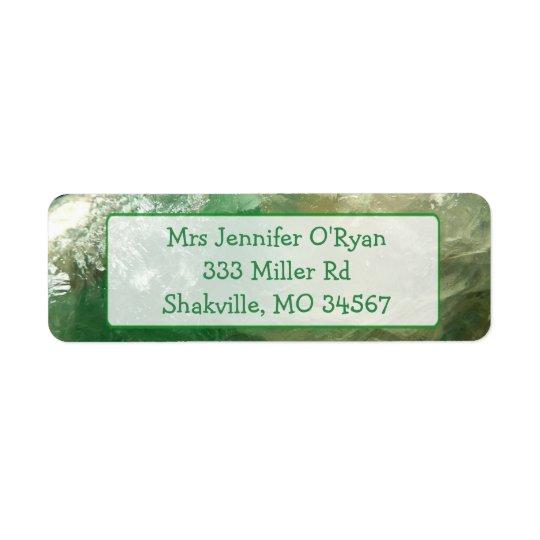 Green Stone Marble Return Address Labels