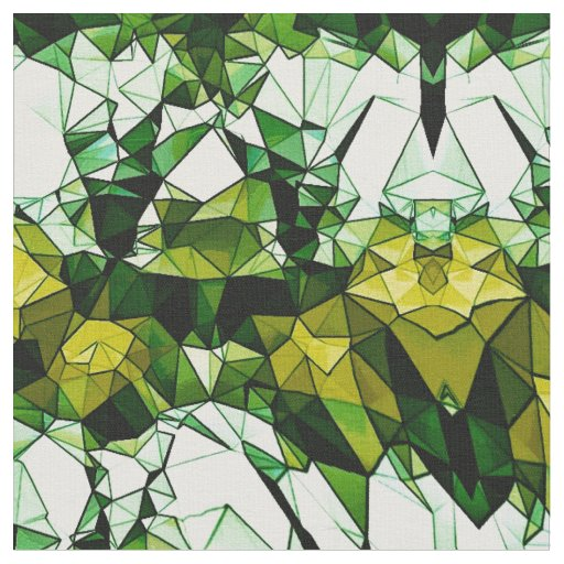 Green Stone Mosaic Patterned Fabric