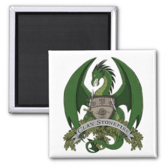 Green Stonefire Dragons Crest Magnet