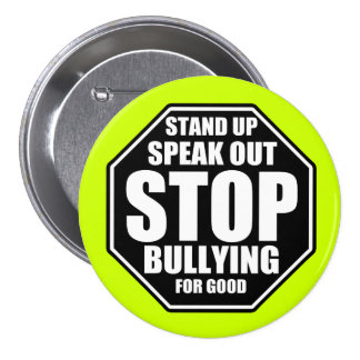 Green Stop Bullying 7.5 Cm Round Badge