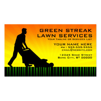 green streak lawn services business card template