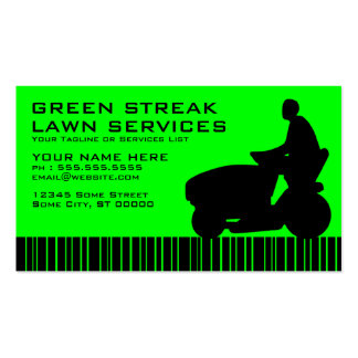 green streak lawn services pack of standard business cards
