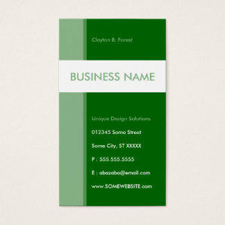 green streamline business card