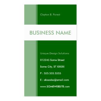 green streamline business card template