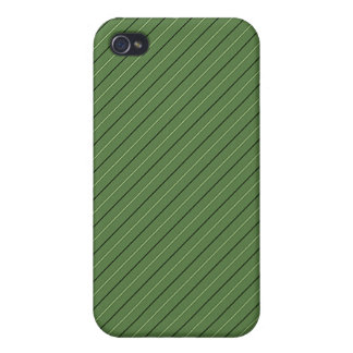 Green Stripe and Gold Border Metallic look iphone4 iPhone 4 Case