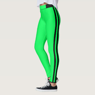 Green Stripe Leggings