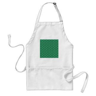 Green Stripe Pattern Abstract Standard Apron