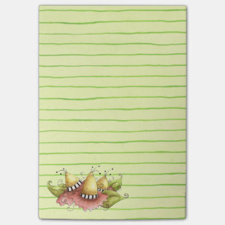 Green Stripe Post-it Notes