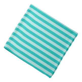 Green striped dog bandana