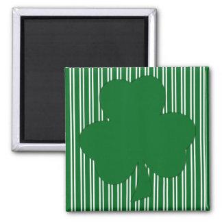 Green Striped Shamrock Magnet Magnets