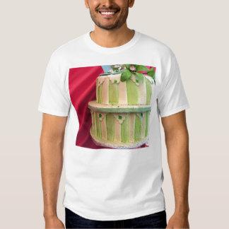 Green striped T shirt