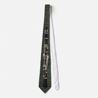 Green-Striped Tied Clarinet Tie