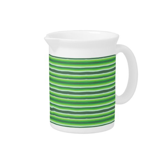Green Stripes Beverage Pitchers