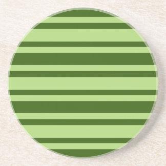 Green Stripes custom coaster