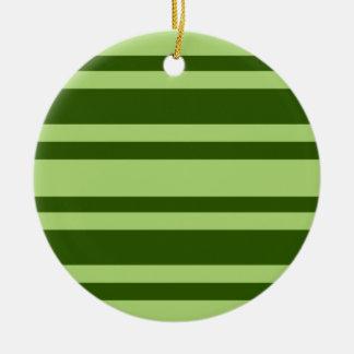 Green Stripes custom ornament