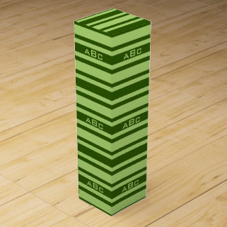 Green Stripes custom wine gift box