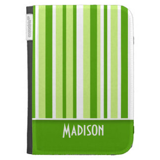 Green Stripes Cute Cases For The Kindle