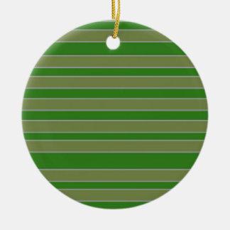Green stripes christmas tree ornaments