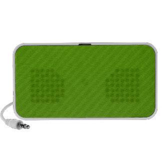 Green stripes doodle speakers