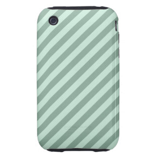 Green Stripes. iPhone 3 Tough Cases