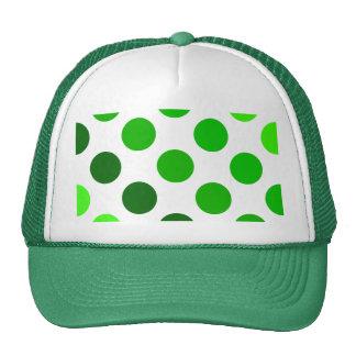 Green Stripes Polka Dot Pattern Cap