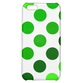 Green Stripes Polka Dots Pattern Case For iPhone 5C