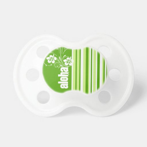 Green Stripes; Striped; Aloha Baby Pacifiers