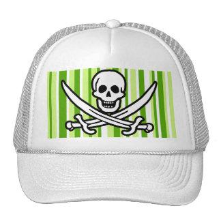 Green Stripes; Striped Jolly Roger; Pirate Cap