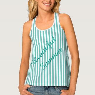 Green Stripes Tank Top