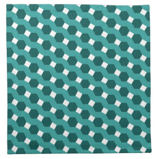 "Green ""Stripes"" Tiled Tessellation Pattern Napkin"
