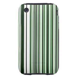 Green Stripes Tough iPhone 3 Case