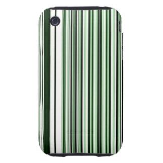 Green Stripes Tough iPhone 3 Case