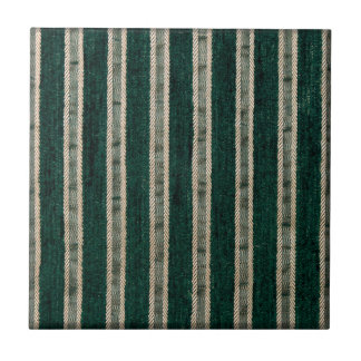 Green stripes upholstery fabric tile