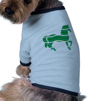 Green stripped Thoroughbred Ringer Dog Shirt