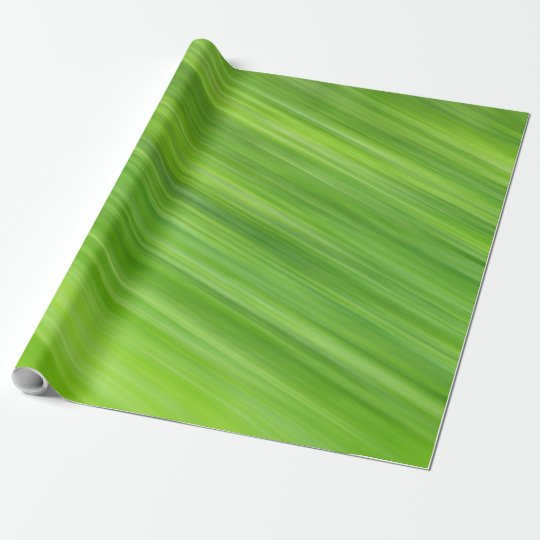 Green strips pattern wrapping paper