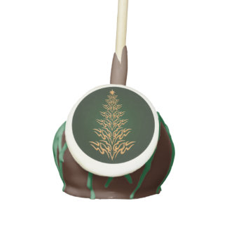 Green Stylish Christmas Tree Cake Pops