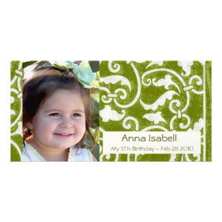 Green Stylish Photo Card